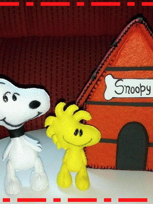 TURMA DO SNOOPY DE FELTRO -KIT POKET 1