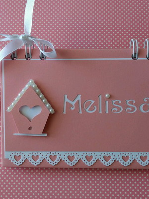 caderno personalizado bebê mensagens maternidade menina rosa