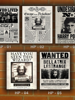 Placa Decorativa Vintage Harry Potter