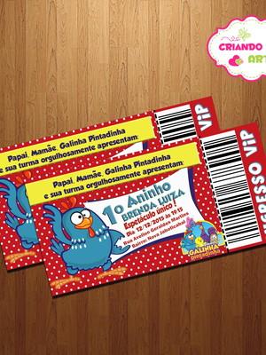 Galinha Pintadinha - Convite Aniversário