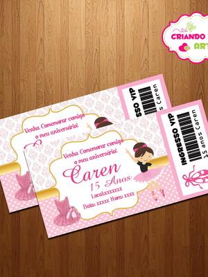 Convite Festa infantil Bailarina