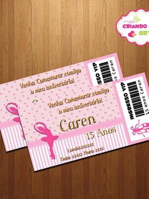 Convite Vip Bailarina