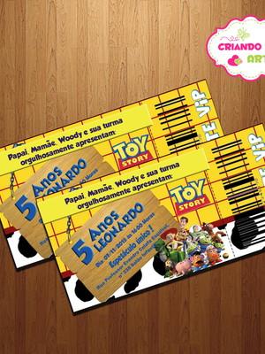 Convite Ingresso Toy Story