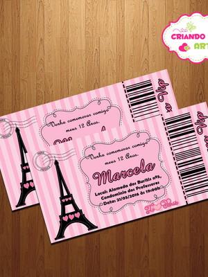 Convite Ingresso Paris