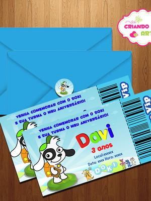 Convite Ingresso Turma do Doki + Brinde