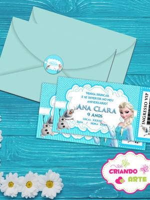 Convite Ingresso Frozen + Brinde