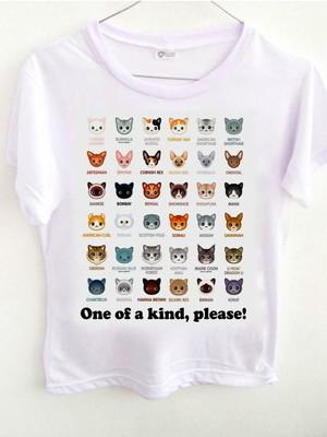 T-shirt Espécies de Gatos