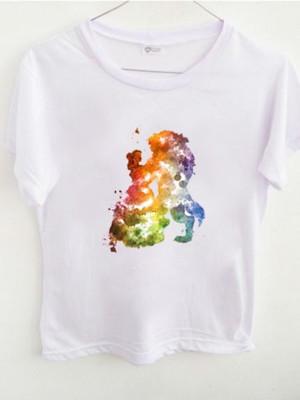 T-shirt A Bela e A Fera Painting