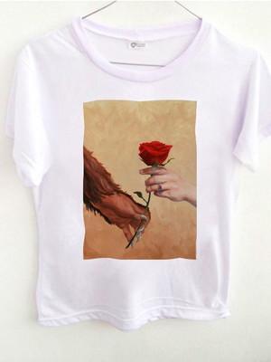 T-shirt Rose hands