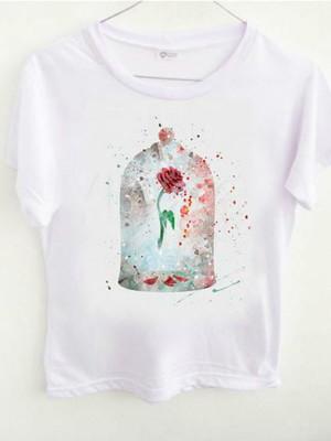 T-shirt Rosa A Bela e A Fera