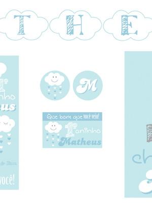 Kit digital Nuvem Céu Azul