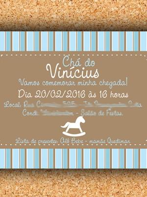 Convite Chá Cavalo de Balanço- digital