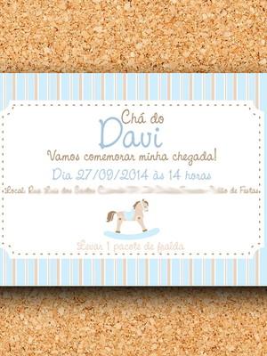 Convite Cavalinho Azul Claro - digital