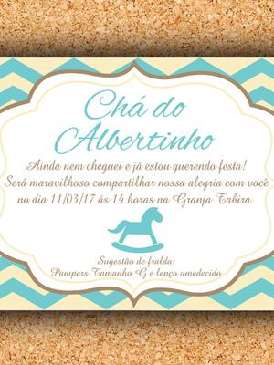 Convite Cavalinho Chevron - digital