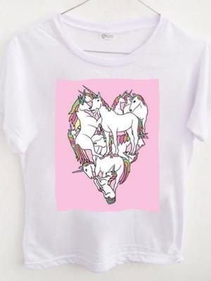 T-shirt Unicorn heart