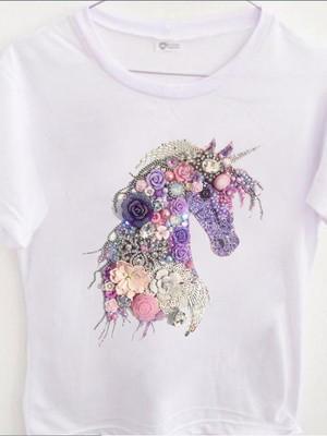 T-shirt Estampa Unicórnio Bijoux