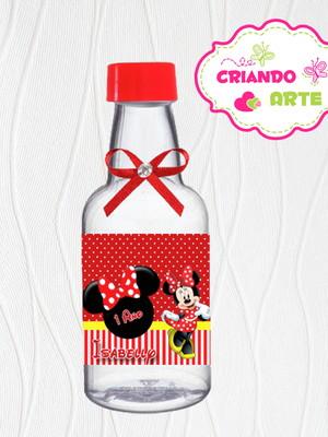 Garrafinha Personalizada Minnie Vermelha