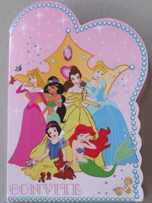 Convite Especial Seis Princesas (10 un.)