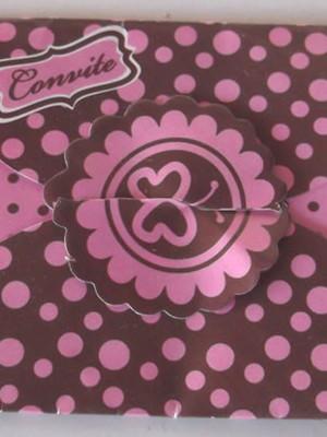 Convite Especial Envelope Rosa (10 un.)