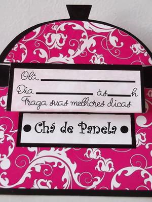 Convite Chá de Panela (10 unidades.)