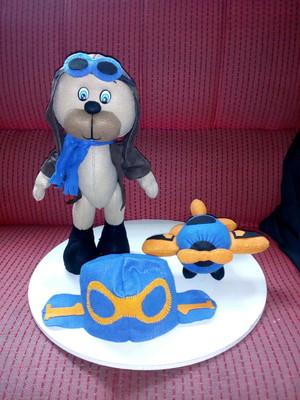 Kit decorativo Ursinho aviador