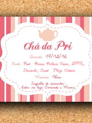 Convite Chá de Cozinha - digital