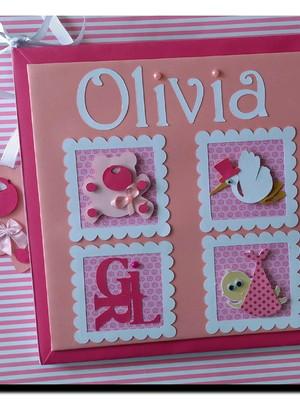 livro do bebê menina personalizado ursinha scrap