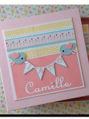 Álbum fotos decorado para festa infantil scrapbook com caixa