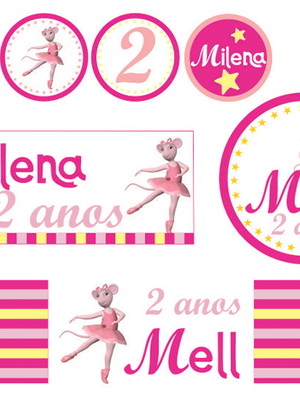 Kit digital Festa Angelina Ballerina