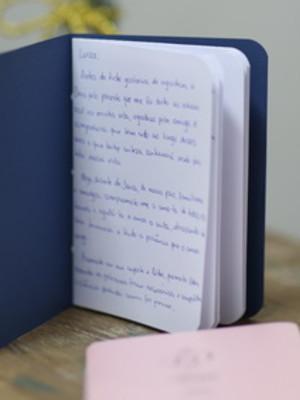 Livro de votos rosa e azul marinho - casamento (o par)