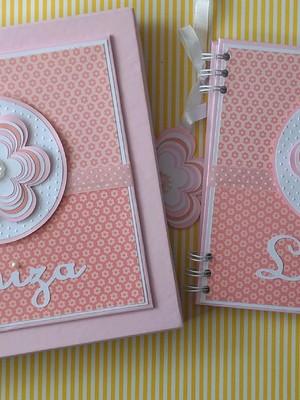 caderno personalizado e Caixa Florzinha