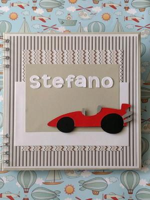 caderno personalizado bebê menino carro maternidade chá