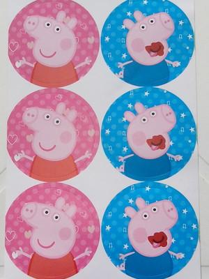Adesivo Peppa Pig 4CM (30 unid.)