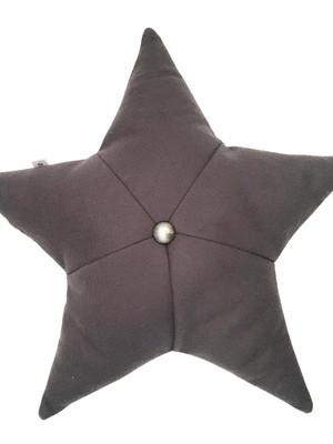 Almofada Estrela feltros tons de cinza