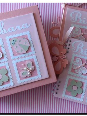 álbum diário livro bebê caderno mensagens jardim encantado