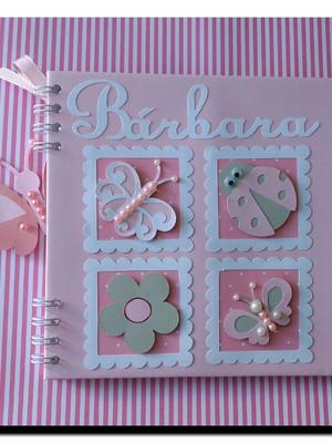 caderno personalizado bebê menina mensagens maternidade chá