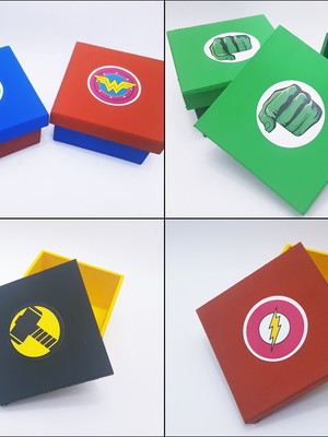 Caixas MDF Heróis Escudo