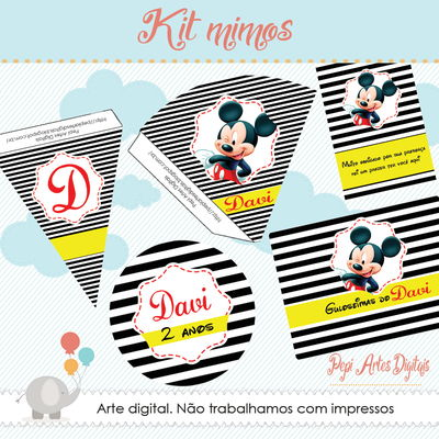 Kit digital para mimos Mickey