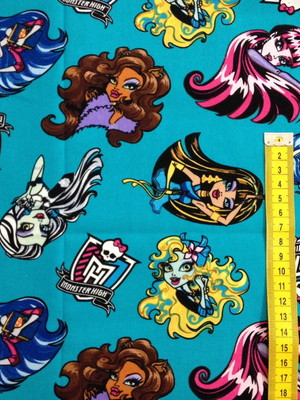 Tecido Importado MONSTER HIGH AZUL