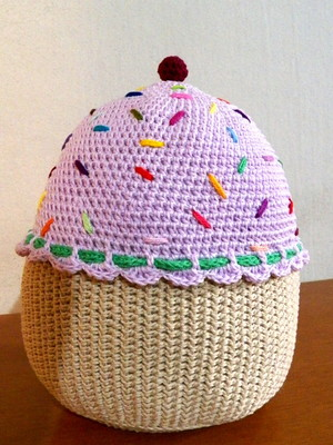 Almofada Cupcake em crochet