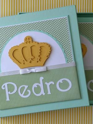álbum livro diário bebê menino e caixa príncipe scrap