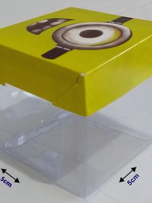 Caixinha Acetato Minions (10 un)