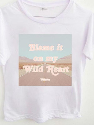T-shirt Blame it on my wild soul