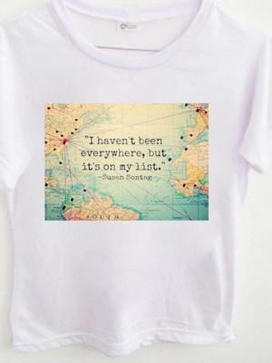 T-shirt Lista de viagens
