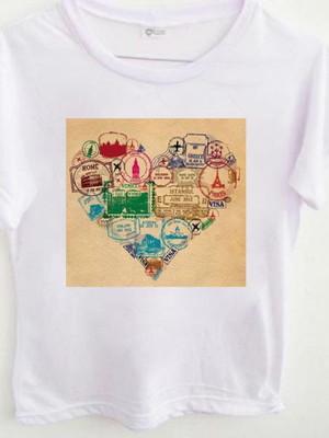 T-shirt Carimbos de viagens