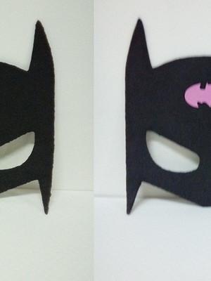 kit c/ 3 itens Batman/ Batgirl de eva