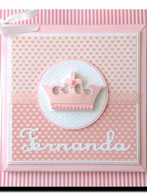 Livro Bebê personalizado menina rosa Princesinha scrapbook
