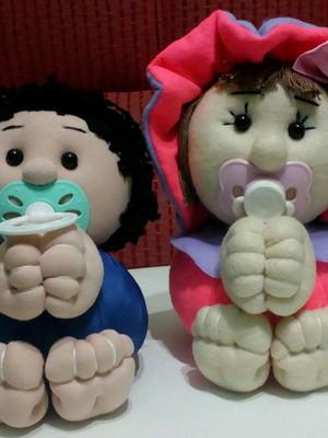 Boneca bebê bolinha