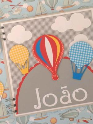 caderno balões e nuvens color