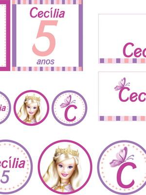 Kit Festa Barbie Princesa